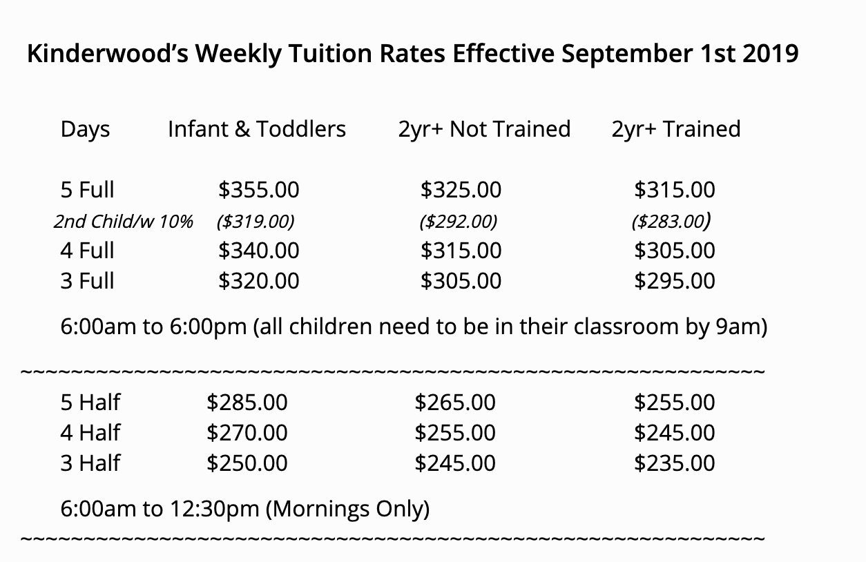 2019 tuition